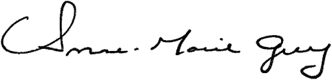 Signature of Anne-Marie Grey